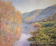 Banks of the Seine at Jeufosse, Autumn by Claude Monet