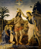 Baptism of Christ by Leonardo Da Vinci