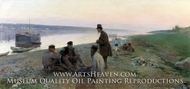Barge Haulers painting reproduction, Alexey Korin