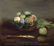 Basket of Fruit painting reproduction, Edouard Manet