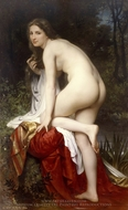 Bather painting reproduction, William Adolphe Bouguereau