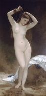 Bather (Baigneuse) painting reproduction, William Adolphe Bouguereau