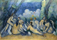 Bathers painting reproduction, Paul Cezanne