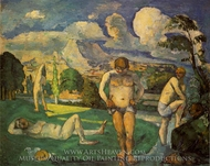 Bathers at Rest painting reproduction, Paul Cezanne