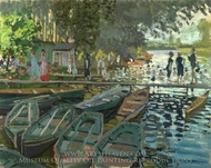 Bathing at La Grenouillere painting reproduction, Claude Monet