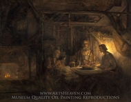 Baucis and Philemon painting reproduction, Rembrandt Van Rijn