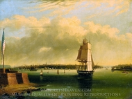 Bay and Harbor of New York from Bedlow's Island painting reproduction, Edmund C. Coates