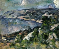 Bay of l'Estaque painting reproduction, Paul Cezanne