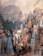 Bazaar 1 painting reproduction, Amedeo Preziosi