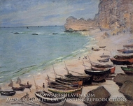 Beach at Etretat by Claude Monet