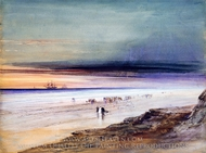 Beach Scene painting reproduction, James Hamilton