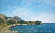 Beaulieu: The Bay of Fourmis painting reproduction, Eugene-Louis Boudin