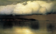 Became Silent painting reproduction, Nikolay Dubovskoy