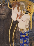 Beethoven Frieze (detail) painting reproduction, Gustav Klimt