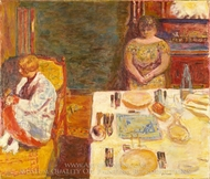 Before Dinner painting reproduction, Pierre Bonnard