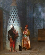 Before the Audience painting reproduction, Jean-Leon Gerome