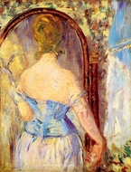 Before the Mirror painting reproduction, Edouard Manet