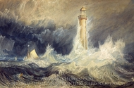 Bell Rock Lighthouse painting reproduction, Joseph Mallord William Turner
