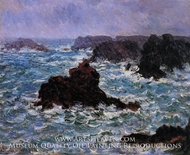 Belle-Ile, Rain Effect by Claude Monet