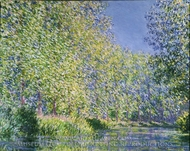 Bend in the River Epte painting reproduction, Claude Monet