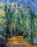 Bent in Forest Road painting reproduction, Paul Cezanne