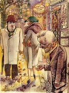 Berlin Streetscene painting reproduction, George Grosz