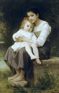 Big Sister (La soeur ainee) painting reproduction, William Adolphe Bouguereau
