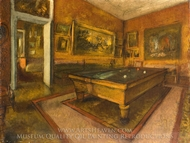 Billiards Room at Menil-Hubert painting reproduction, Edgar Degas