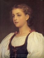 Biondina painting reproduction, Lord Frederic Leighton