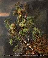 Birch Tree in a Storm by Johan Christian Dahl