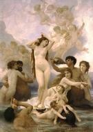 Birth of Venus (Naissance de Venus) painting reproduction, William Adolphe Bouguereau