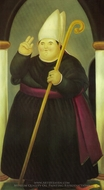 Bishop painting reproduction, Fernando Botero
