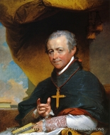 Bishop Jean-Louis Anne Magdelaine Lefebvre de Cheverus by Gilbert Stuart