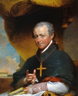 Bishop Jean-Louis Anne Magdelaine Lefebvre de Cheverus painting reproduction, Gilbert Stuart