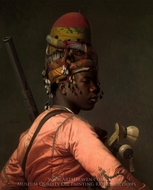 Black Bashi Bazouk painting reproduction, Jean-Leon Gerome