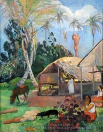 Black Pigs painting reproduction, Paul Gauguin