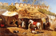 Blacksmith Shop at Tangiers painting reproduction, Edwin Lord Weeks