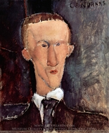 Blaise Cendrars painting reproduction, Amedeo Modigliani