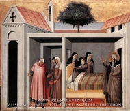 Blessed Humilitas Heals a Sick Nun painting reproduction, Pietro Lorenzetti