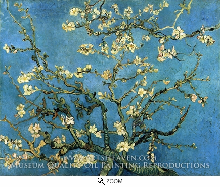 Painting Reproduction of Blossoming Almond Tree, Vincent Van Gogh