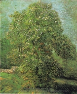 Blossoming Chestnut Tree painting reproduction, Vincent Van Gogh