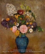 Blue Vase of Flowers by Odilon Redon