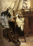Boarding the Yacht painting reproduction, James Tissot