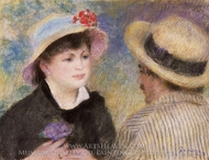 Boating Couple (Aline Charigot and Renoir) painting reproduction, Pierre-Auguste Renoir