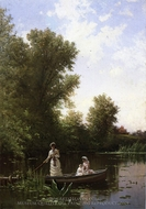 Boating in the Afternoon painting reproduction, Alfred Thompson Bricher