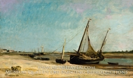 Boats on the Seacoast at Etaples by Charles Daubigny