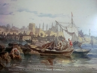 Bosphorus painting reproduction, Amedeo Preziosi