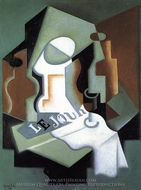 Bottle and Fruit Dish painting reproduction, Juan Gris