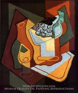 Bottle, Wine Glass and Fruit Bowl by Juan Gris