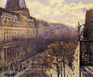 Boulevard des Italiens painting reproduction, Gustave Caillebotte